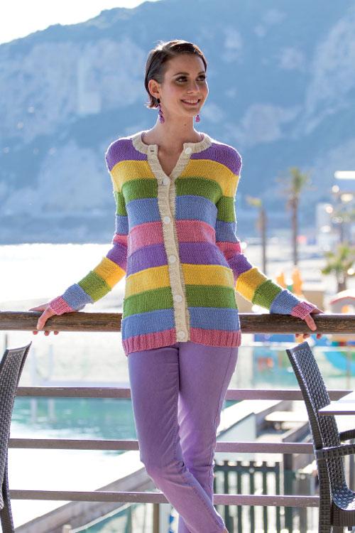 buy online 039d5 ca8fb Schema per cardigan colorato - Trichi | Maglia, uncinetto ...